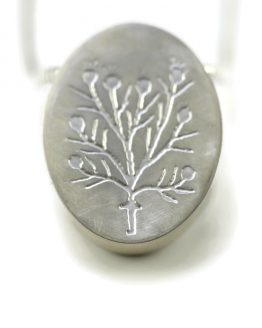 embossed hollow pendant